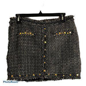 UMGEE Black White Tweed Skirt  Sz. Medium